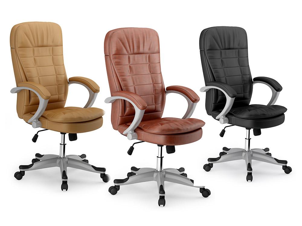 b rostuhl chefsessel drehstuhl kunstleder eago beige schwarz oder braun eg 322 ebay. Black Bedroom Furniture Sets. Home Design Ideas