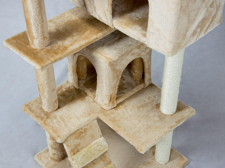 kratzbaum kletterbaum katzenhaus haustier katze sisal 130 cm pethaus 201 beige ebay. Black Bedroom Furniture Sets. Home Design Ideas