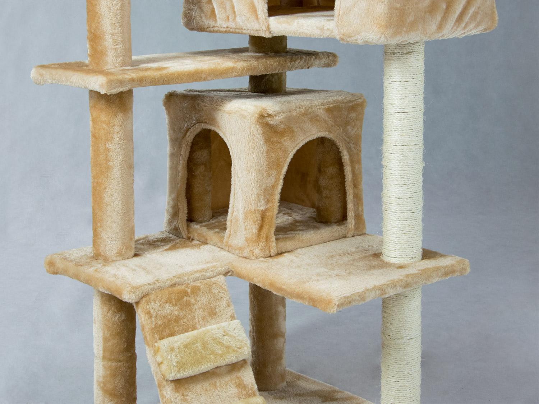 kratzbaum kletterbaum katzenhaus haustier katze sisal 130. Black Bedroom Furniture Sets. Home Design Ideas