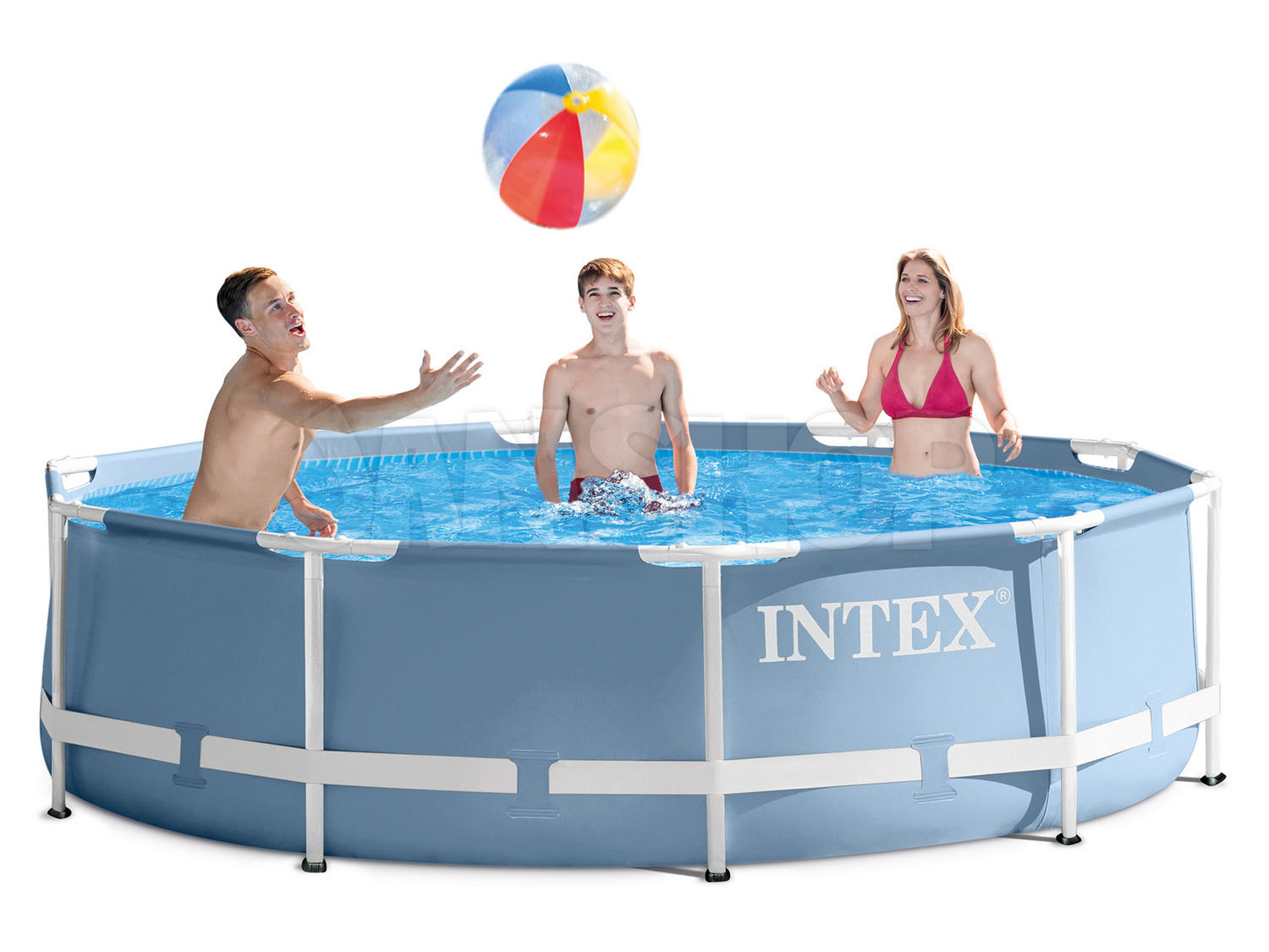 Gartenpool prism 305x76 metal frame pool intex 28700 for Gartenpool metall