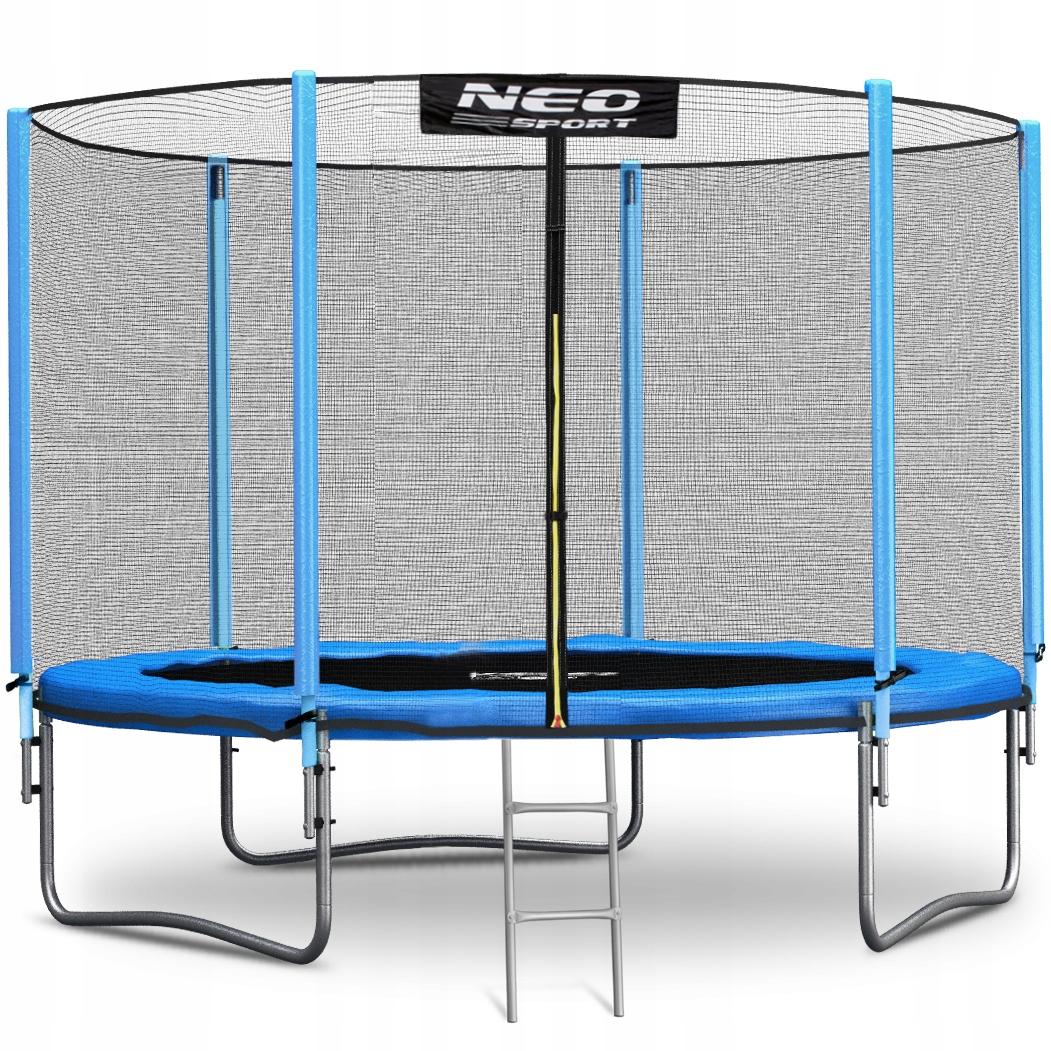 Gartentrampolin Kindertrampolin mit Sicherheitsnetz Leiter Neo-Sport 305 cm 10FT