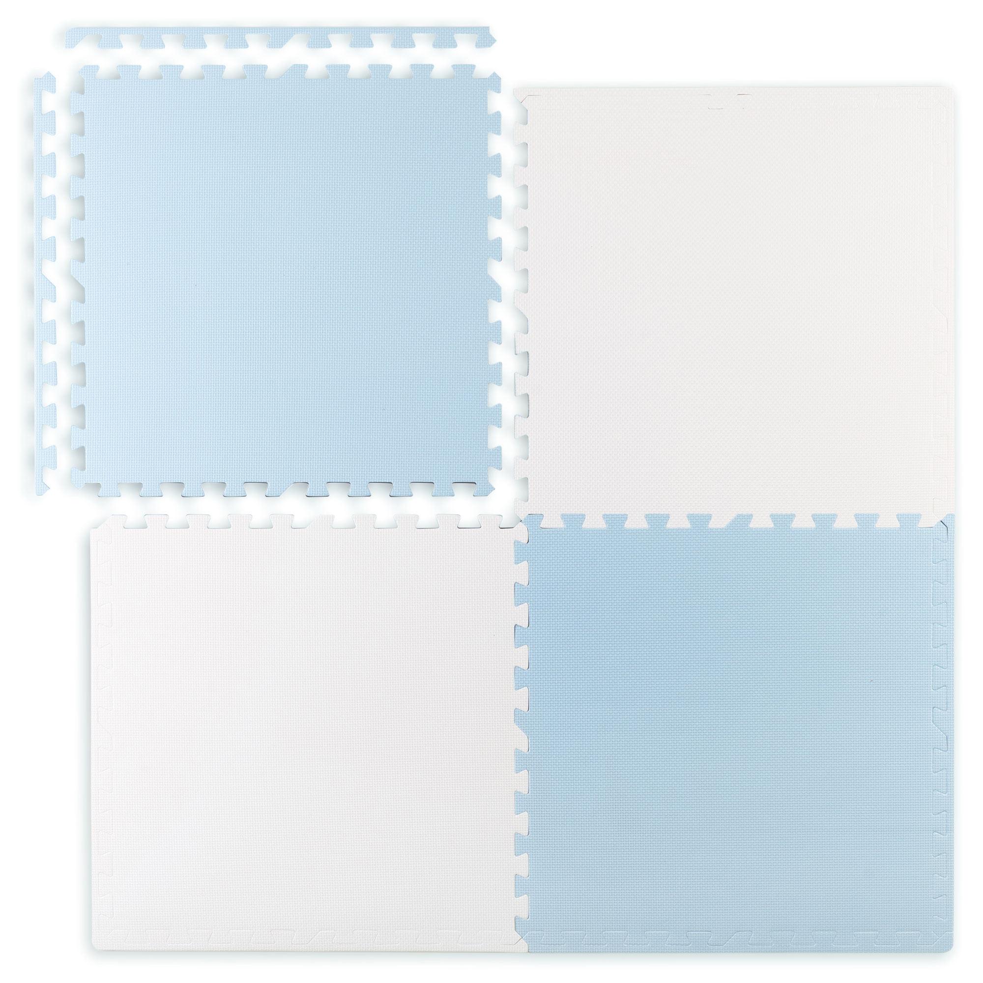 Duża mata piankowa edukacyjna puzzle Ricokids niebiesko biała