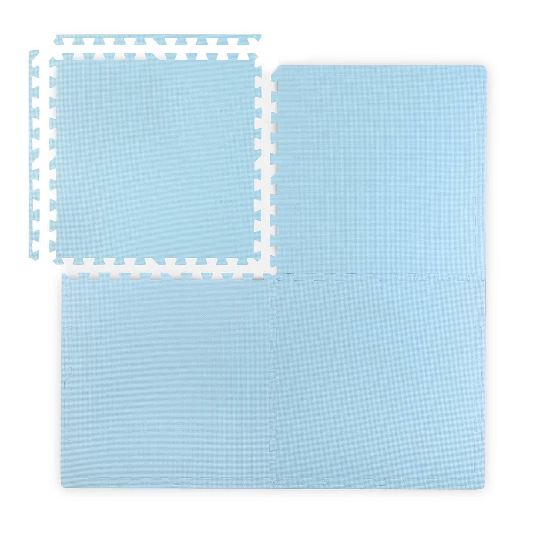 Duża mata piankowa, puzzle 4 szt. niebieskie