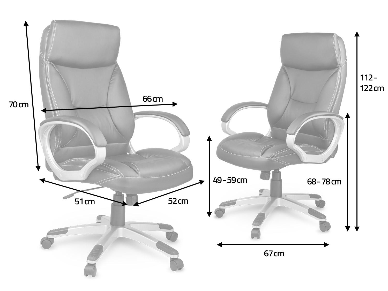 Fotel biurowy skórzany Eago EG 223 brązowy :: baseny