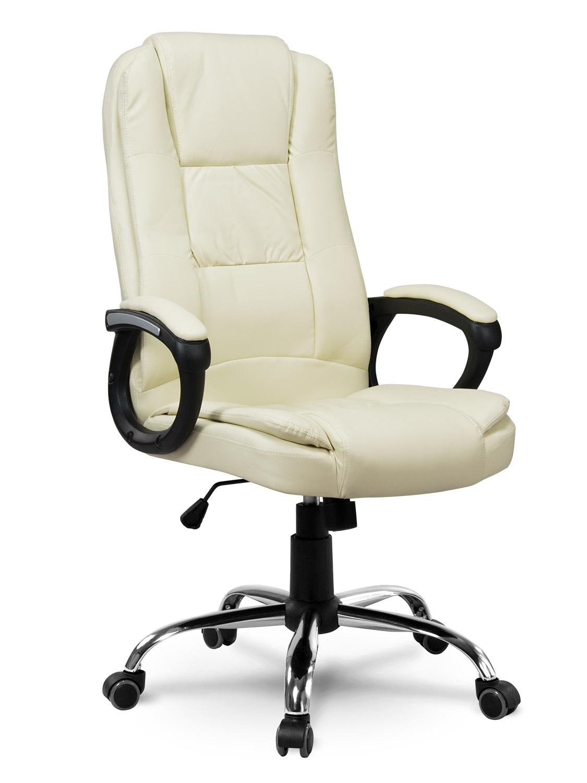 Masywnie Fotel biurowy skórzany Sofotel EG-230 beżowy :: baseny ogrodowe w LO25