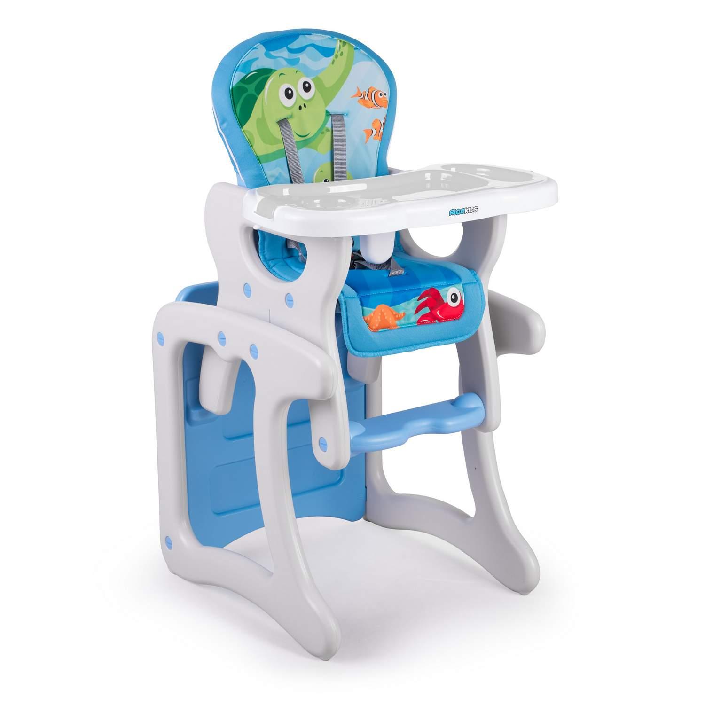 Krzesełko Do Karmienia Dla Dzieci 3w1 Ricokids Teri Szaro