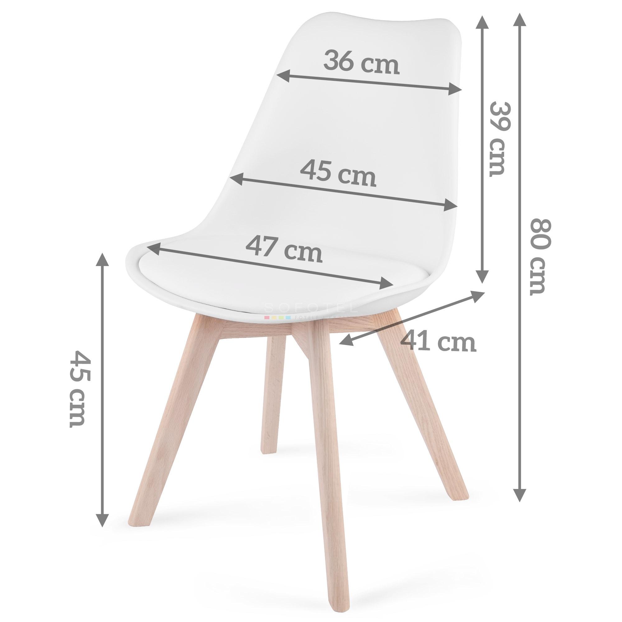 Krzesło nowoczesne skandynawskie Sofotel Ponti białe