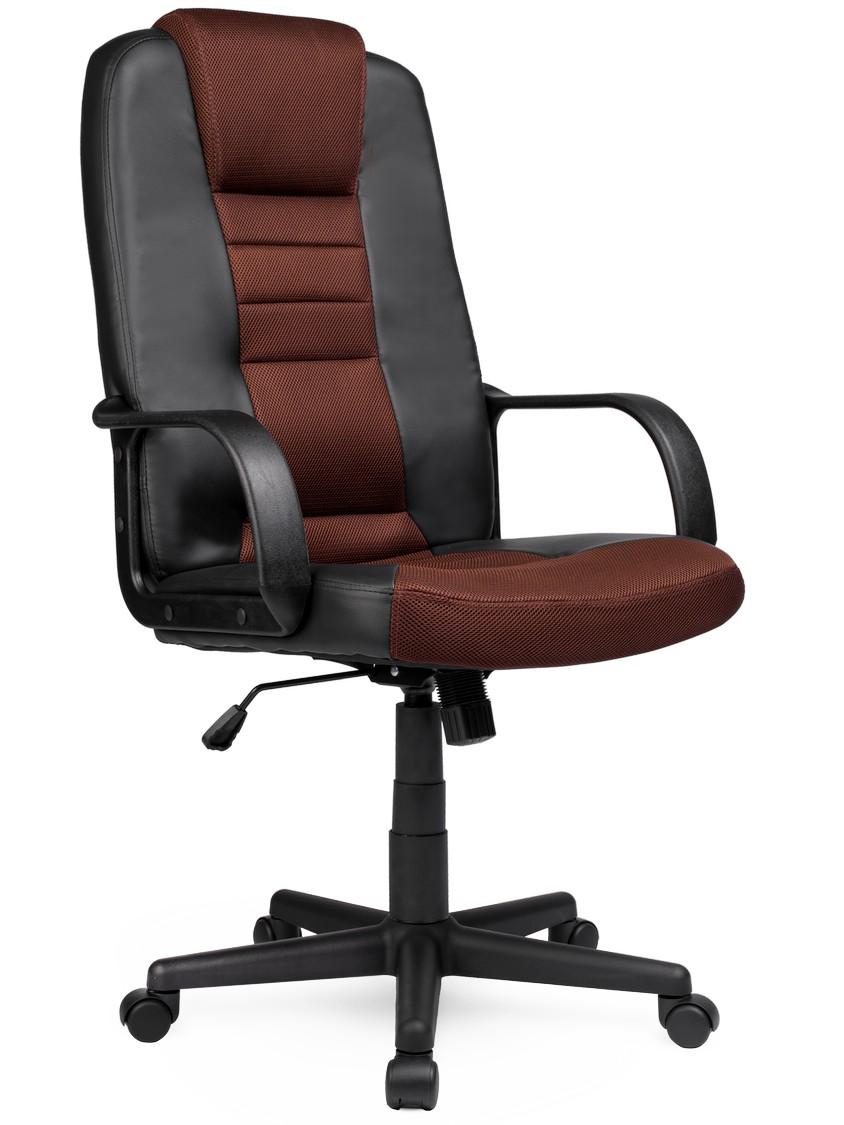 Skórzany Fotel Z Mikrosiatką Sofotel 518b Czarno Brązowy
